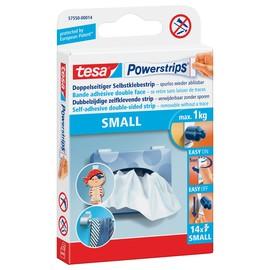 Powerstrips Small bis 1000g Haftkraft beidseitig klebend Tesa 57550-00014-01 (PACK=14 STÜCK) Produktbild