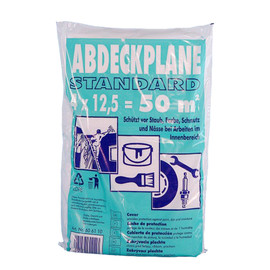 HDPE Abdeckplane  12,5x4m / 12µ / transparent Produktbild