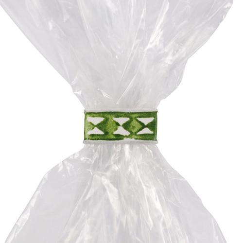 Beutelverschluß-Clipse 33x8mm weiß/grün (KTN=1000 STÜCK) Produktbild