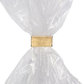 Beutelverschluß-Clipse 33x8mm gold (KTN=1000 STÜCK) Produktbild