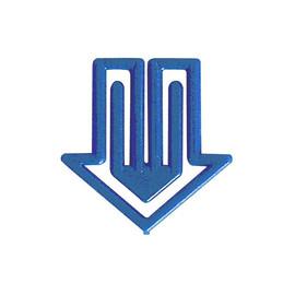 Büroklammern Pfeilform 30mm farbig sortiert Kunststoff Laurel 1427-95 (DS=30 STÜCK) Produktbild