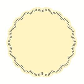 Tassendeckchen Tissue Basic Uni Ø9cm / creme (PACK=250 STÜCK) Produktbild