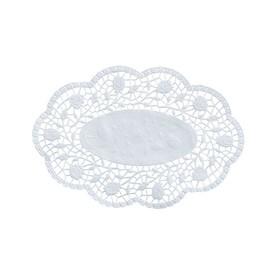 Tortenspitzen oval 24x31cm / weiß (PACK=100 STÜCK) Produktbild
