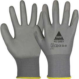 Arbeitshandschuh feinstrick / Gr. 7 grau / Soft-PU Beschichtung Produktbild