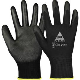Arbeitshandschuh feinstrick / Gr. 8 schwarz / Soft-PU Beschichtung Produktbild