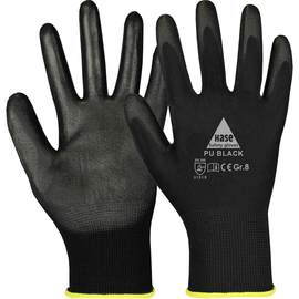 Arbeitshandschuh feinstrick / Gr. 9 schwarz / Soft-PU Beschichtung Produktbild