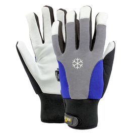 Lederarbeitshandschuh Hard Stone grau/blau / Gr. 11 Produktbild