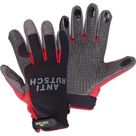 Mechaniker Handschuh Stick schwarz/rot / Gr. 10 Produktbild
