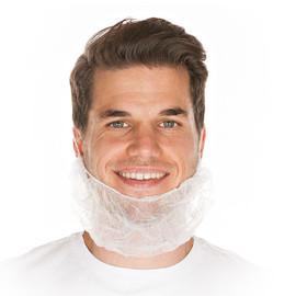 PP-Vlies Bartschutz mit latexfreiem Gummiband / weiß / 20x46cm / Spenderbox (KTN=1000 STÜCK) Produktbild