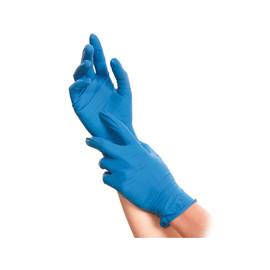 Latex Einweghandschuhe SOFT BLUE blau / ungepudert / Größe XL / Spenderbox (KTN=1000 STÜCK) Produktbild