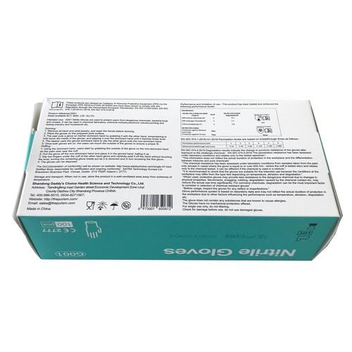 Nitril Einweghandschuhe DC blau / ungepudert / Größe L (BOX=100 STÜCK) Produktbild Additional View 2 L