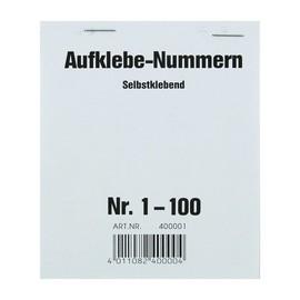 Aufklebenummern fortlaufend 1-100 selbstklebend Wolf & Appenzeller 400001 Produktbild