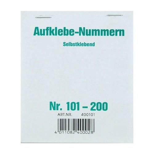 Aufklebenummern fortlaufend 101-200 selbstklebend Wolf & Appenzeller 400101 Produktbild