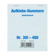 Aufklebenummern fortlaufend 301-400 selbstklebend Wolf & Appenzeller 400301 Produktbild