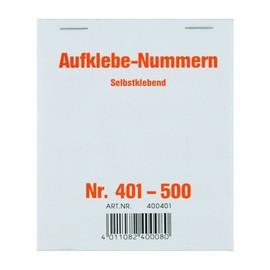 Aufklebenummern fortlaufend 401-500 selbstklebend Wolf & Appenzeller 400401 Produktbild