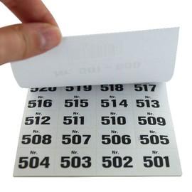 Aufklebenummern fortlaufend 501-600 selbstklebend Wolf & Appenzeller 400501 Produktbild