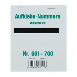 Aufklebenummern fortlaufend 601-700 selbstklebend Wolf & Appenzeller 400601 Produktbild