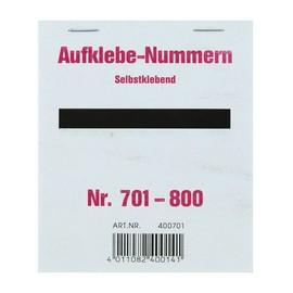 Aufklebenummern fortlaufend 701-800 selbstklebend Wolf & Appenzeller 400701 Produktbild