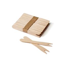 Holz Spießer 2 Zinken ungehüllt 20200061 (PACK=1000 STÜCK) Produktbild