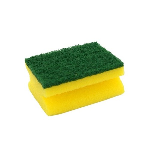 Scheuerschwamm klein SMA60 / 7x9,5cm / gelb-grün / CLEAN and CLEVER (PACK=6 STÜCK) Produktbild