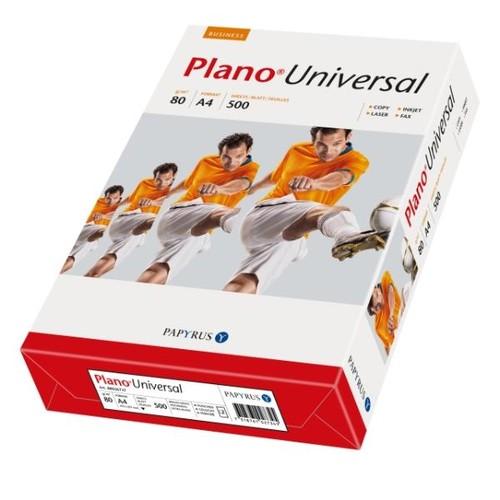 Kopierpapier Plano Universal A4 80g weiß holzfrei 2-fach gelocht (PACK=500 BLATT) Produktbild Front View L
