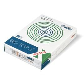Kopierpapier Bio/Top 3 A4 80g naturweiß holzfrei TCF (PACK=500 BLATT) Produktbild