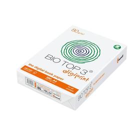 Kopierpapier Bio/Top 3 A4 80g naturweiß holzfrei TCF FSC 89CIE (PACK=500 BLATT) Produktbild