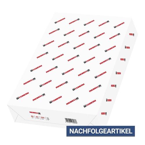 Kopierpapier Rebell Office Lasercopy A4 80g weiß holzfrei ECF 146CIE (PACK=500 BLATT) Produktbild