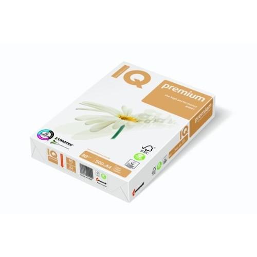 Kopierpapier IQ Premium Triotec A4 80g weiß ECF holzfrei 88055603 (PACK=500 BLATT) Produktbild Front View L