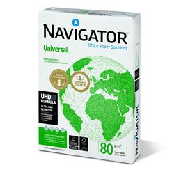 Kopierpapier Navigator Universal A4 80g weiß holzfrei 8247A80S (PACK=500 BLATT) Produktbild