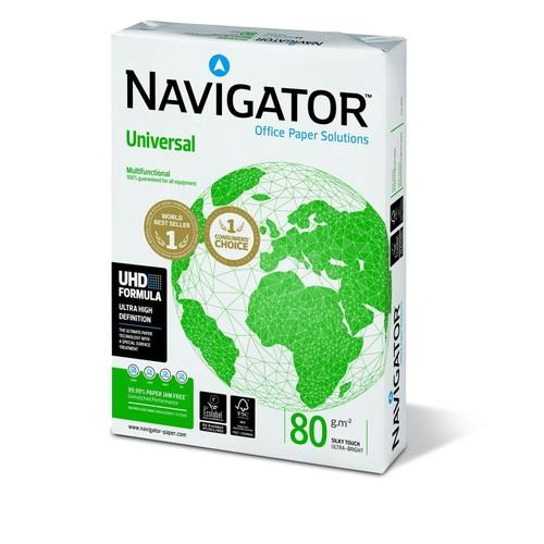 Kopierpapier Navigator Universal A4 80g weiß holzfrei 8247A80S (PACK=500 BLATT) Produktbild Front View L