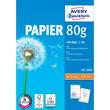 Papier Inkjet+Laser+Kopier A4 80g weiß holzfrei Zweckform 2574 (PACK=500 BLATT) Produktbild