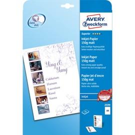 Papier Inkjet Superior A4 150g weiß matt Zweckform 2599 (PACK=25 BLATT) Produktbild