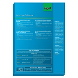 Fotopapier Inkjet A4 95g hochweiß matt Sigel IP288 (PACK=200 BLATT) Produktbild