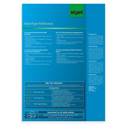 Fotopapier Inkjet A3 160g hochweiß matt Sigel IP383 (PACK=100 BLATT) Produktbild