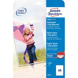 Fotopapier Inkjet Classic A4 125g weiß glossy Zweckform 2554 (ST=20 BLATT) Produktbild