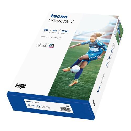 Kopierpapier tecno Universal A4 80g weiß FSC EU-Ecolabel 153CIE (PACK=500 BLATT) Produktbild Front View L