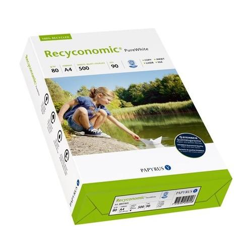 Kopierpapier Pure White A4 80g 90er Weiße Recyconomic (PACK=500 BLATT) Produktbild