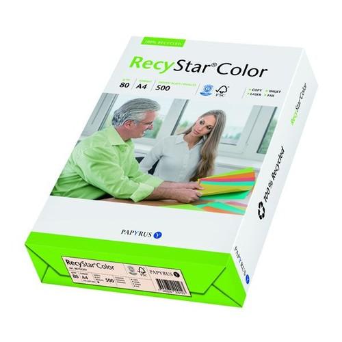Kopierpapier RecyStar Color Pastell A4 80g chamois recycling 88152397 (PACK=500 BLATT) Produktbild Front View L