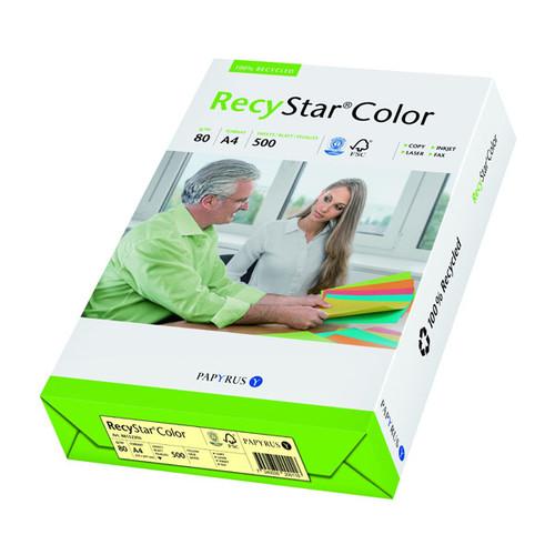 Kopierpapier RecyStar Color Pastell A4 80g gelb recycling 88152396 (PACK=500 BLATT) Produktbild Front View L