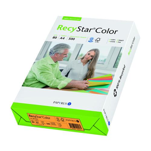 Kopierpapier RecyStar Color Intensiv A4 80g mandarin recycling 88152401 (PACK=500 BLATT) Produktbild Front View L