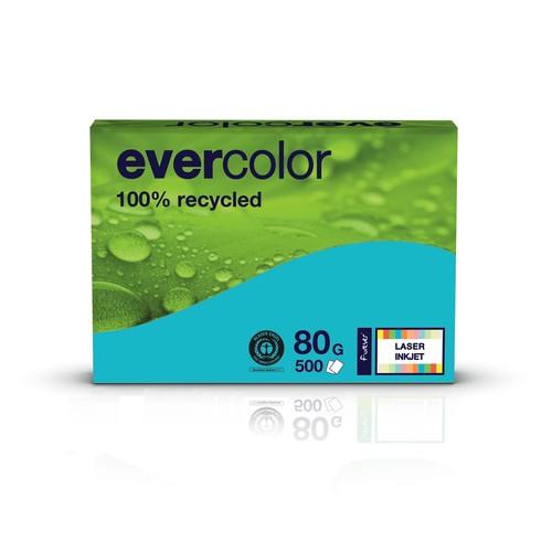 Kopierpapier Evercolor Intensiv A4 80g dunkelblau recycling (PACK=500 BLATT) Produktbild Front View L