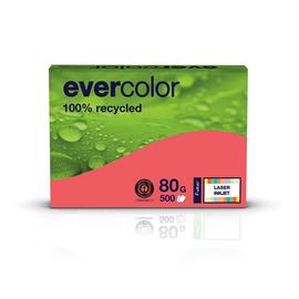 Kopierpapier Evercolor Intensiv A4 80g himbeerrot recycling (PACK=500 BLATT) Produktbild