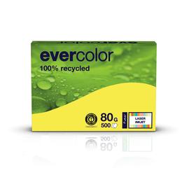 Kopierpapier Evercolor Intensiv A4 80g gelb recycling 88300152 (PACK=500 BLATT) Produktbild