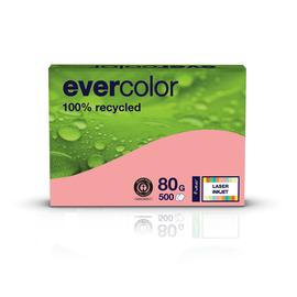 Kopierpapier Evercolor Pastell A4 80g rosa recycling (PACK=500 BLATT) Produktbild