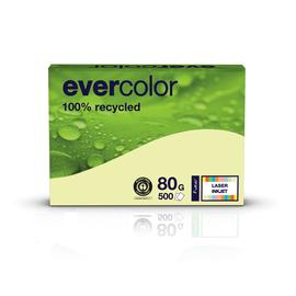 Kopierpapier Evercolor Pastell A4 80g hellgelb recycling 88089371 (PACK=500 BLATT) Produktbild