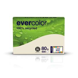 Kopierpapier Evercolor Pastell A4 80g chamois recycling (PACK=500 BLATT) Produktbild