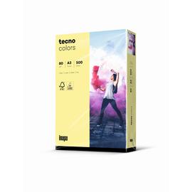 Kopierpapier tecno colors 12 A3 80g hellgelb Pastellfarben (PACK=500 BLATT) Produktbild