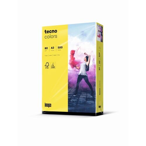 Kopierpapier tecno colors 16 A3 80g gelb Intensivfarben (PACK=500 BLATT) Produktbild Front View L