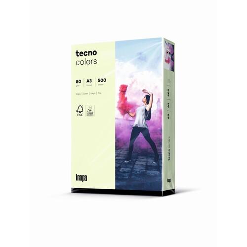 Kopierpapier tecno colors 72 A3 80g hellgrün Pastellfarben (PACK=500 BLATT) Produktbild Front View L